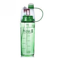 Спортивная бутылка с распылителем 0,6 0.6, Зеленый