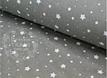 """Лоскут ткани №504а ткань бязь """"Звездопад"""", цвет графитовый , фото 2"""