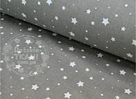 "Лоскут ткани №504а ткань бязь ""Звездопад"", цвет графитовый"