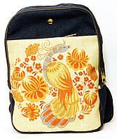 Джинсовый рюкзак жар птица