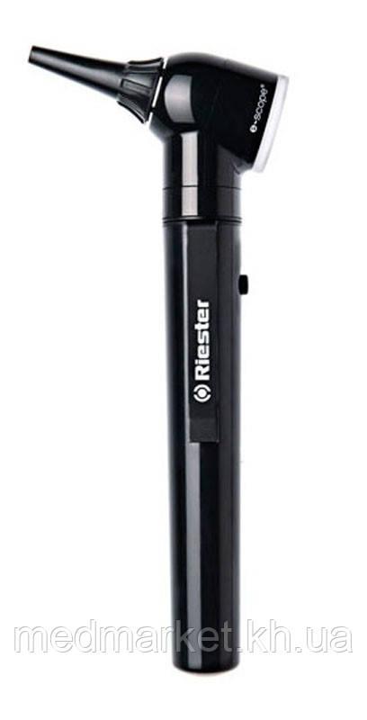 Отоскоп Riester e-scope,прямое освещение ,вакуум 2,7 В,черный,в сумке