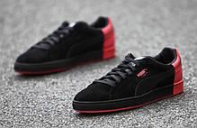 Мужские кроссовки Staple x Puma Pigeon Pack Black/Red 361617-02, Пума Стапл Пиджеон, фото 2