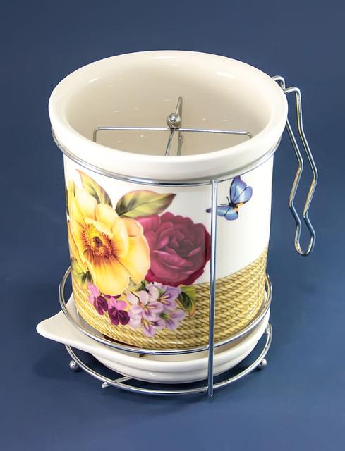 Подставки для кухонных и столовых принадлежностей керамические