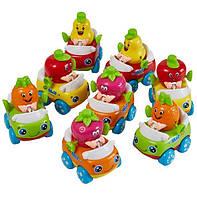 Инерционные машинки Huile Toys, набор машин 8 шт, машинка Тутти-Фрутти