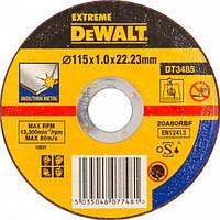 Круг отрезной по металлу INOX 115х1.0мм DeWALT DT3485-QZ (США/Словения)