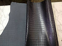 Кожа итальянская тиснение крокодил