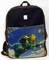 Джинсовый рюкзак корпорация монстров, фото 1