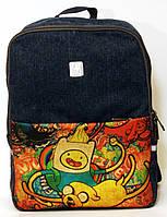 Джинсовый рюкзак мир приключений, фото 1