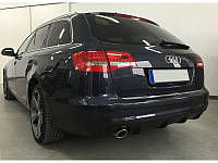 Юбка диффузор накладка заднего бампера Audi A6 C6 sedan / avant стиль RS