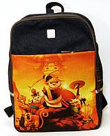 Джинсовый рюкзак панда кунг-фу