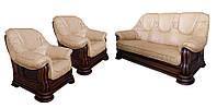 """Комплект классической мебели в коже """"Grizly"""" (Гризли) (3р+1+1)"""