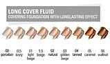 Тональный крем для лица длительного действия Long Cover Fluid Фарфор (00) Paese, фото 2