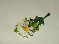 Добавка-цветок к искусственным букетам -  ромашка большая  (h-7 см)