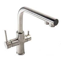DAICY смеситель для кухни однорычажный с подключением питьевой воды, сатин 55009S-F