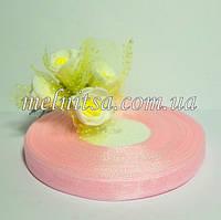 Лента из органзы, 1 см,  цвет св.розовый, 1 рулон