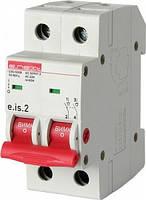 Выключатель нагрузки на DIN-рейку e.is.2.63, 2р.63А.