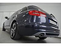 Юбка диффузор накладка заднего бампера Audi A6 C6 sedan / avant стиль S-line