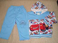 Весенний голубой утепленный спортивный костюм!от 85 см.
