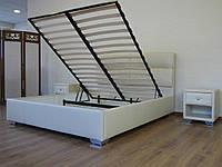Кровать Манчестер с подъемным механизмом с мягким изголовьем полуторная