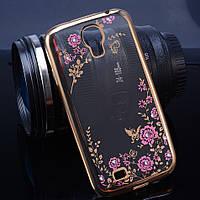 TPU чехол со стразами для Samsung Galaxy S4 I9500 (2 цвета)