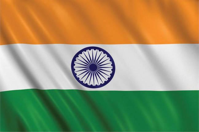 Национальный флаг Индии 90х150см, фото 2