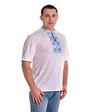 Вышитая футболка крестиком. Мужская футболка в украинском стиле. Футболка вышиванка.