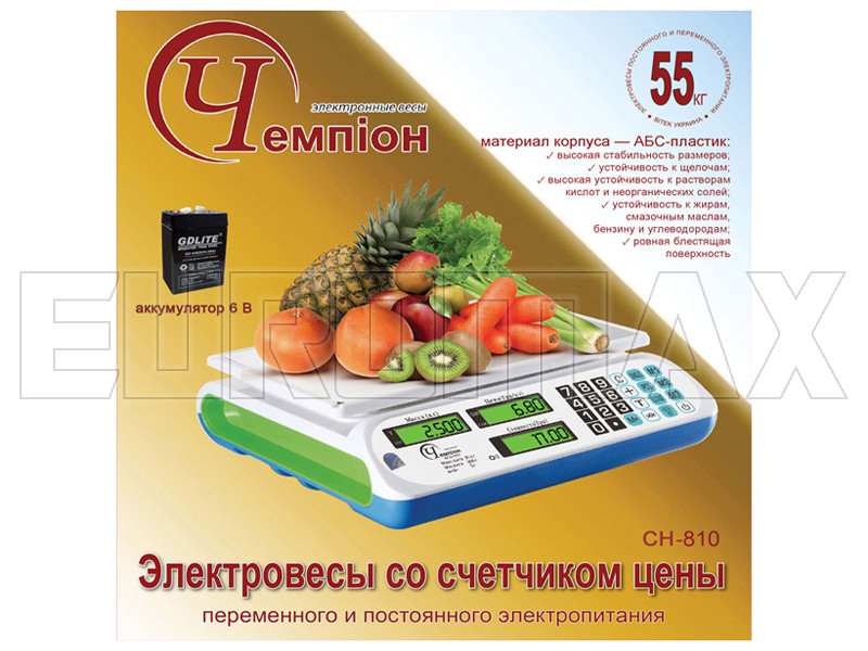 Электронные торговые весы Чемпiон 55 кг CH-810 #3