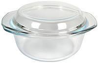Кастрюля стеклянная круглая с крышкой ЕМ 1864 Empire, V 1500 мл.
