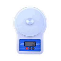 Весы электронные до 5 кг LANP 6109/109, погрешность 1 г, платформа из каленого стекла, питание 2хАА