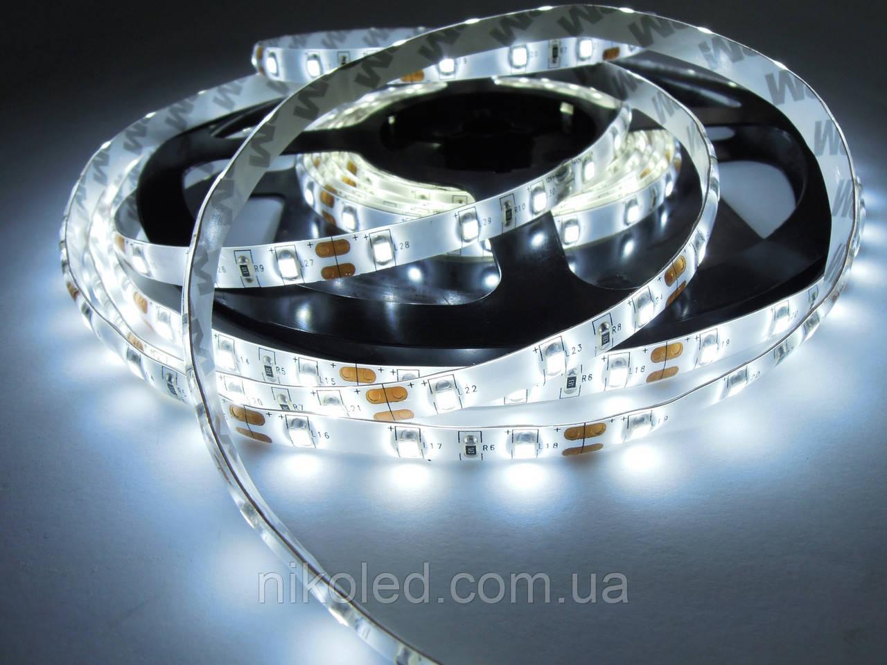 Світлодіодна стрічка SMD 3528-60 преміум серія 5-6Лм IP65 в силіконі Білий