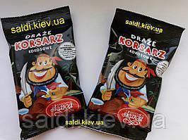 Драже кокосовые в шоколаде Пират 70 грамм - Польша.