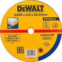 Круг отрезной по металлу INOX 230х22.2х2.8мм DeWALT DT3449-QZ (США/Польша)