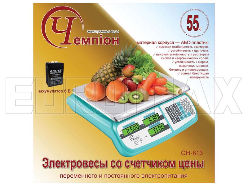 Электронные торговые весы Чемпiон 55 кг CH-813 #1