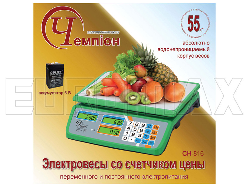 Электронные весы Чемпiон 55кг CH-816