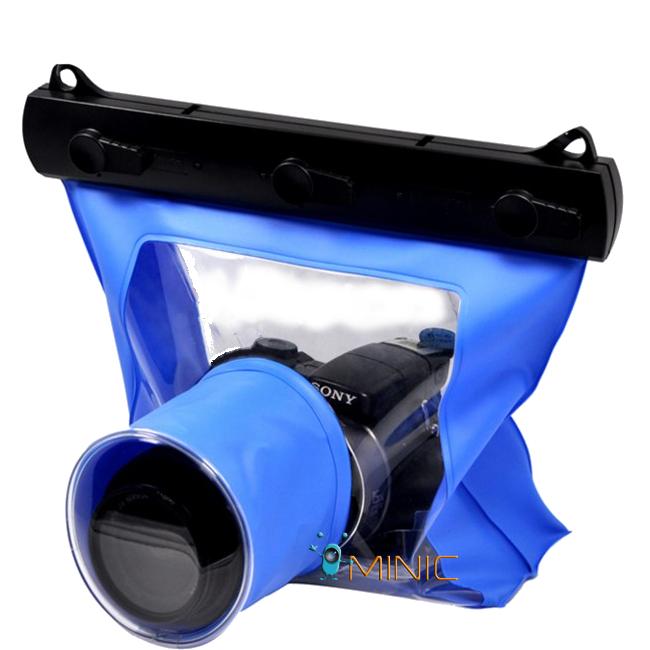 Водонепроницаемый аквабокс для зеркальных фотоаппаратов с жестким зажимом Bingo WP053 15CM Lens