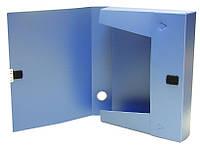 Папка-коробка, A4,  3.7 см, на липучке, 4OFFICE цв. в ас., PP, 4-242