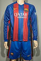 Футбольная форма 2016-2017 Барселона (Barcelona), Nike, длинный рукав домашняя, сине-гранатовая