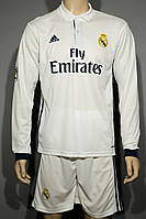 Футбольная форма 2016-2017 Реал Мадрид (Real Madrid), Adidas, длинный рукав, домашняя, белый