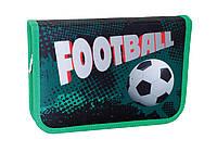"""Пенал твёрдый одинарный """"Green Football"""" 1 Вересня 531340"""