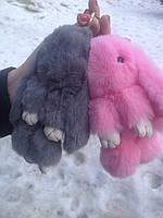 Меховой брелок кролик в широчайшем ассортименте, качественная игрушка для вас и ваших любимых