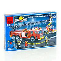 """BRICK 908 (18) """"Пожарная тревога"""", 607 деталей, в коробке"""