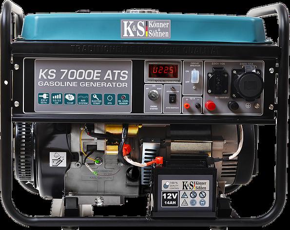 Бензиновый генератор Konner & Sohnen KS 7000E ATS, фото 2