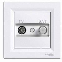 Розетка телевизионная + спутник конечная Schneider Electric Asfora Белый EPH3400121