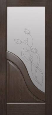 Двери межкомнатные ПВХ Габриэлла стекло с рисунком