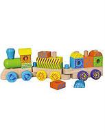 Деревянный конструктор viga toys Поезд (50572b)