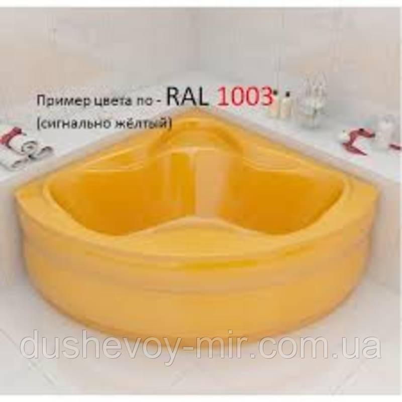 Ванна Artel Plast Злата жёлтый цвет 136х136х47