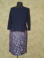 Платье трикотажное с костюмной ткани