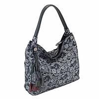 Оригинальная женская кожаная сумка BT 665 (сине-белая)