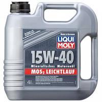 Минеральное моторное масло LIQUI MOLY SAE 15W-40 MoS2 LEICHTLAUF, 4л