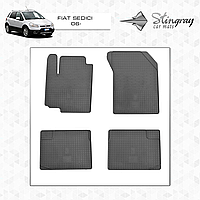 Коврики резиновые в салон Fiat Sedici с 2006- (4шт) Stingray